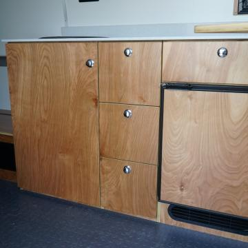 fridge and refrigerator cabinetry