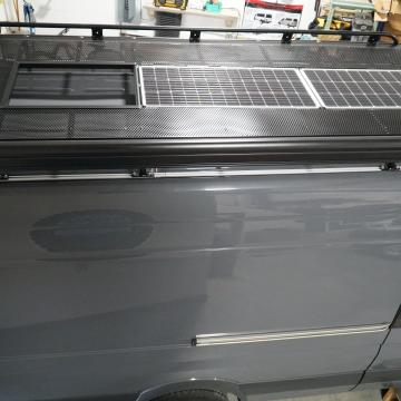 Roof rack with solar (later removed)