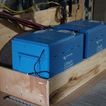 Victron energy lithium battery bank