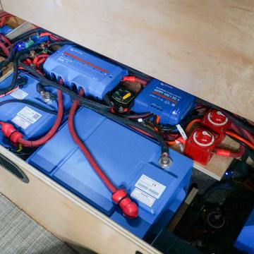 Victron lithium battery bank