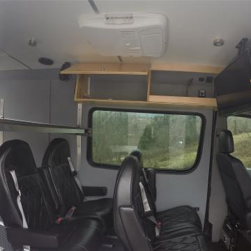 Sprinter conversion Overhead storage