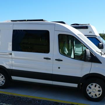 Ford Transit conversion CR Laurence windows