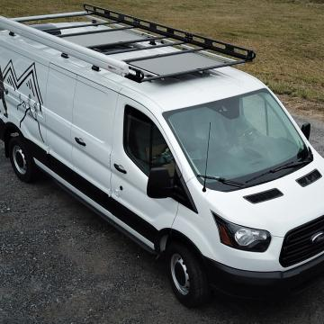 Vantech roof rack with awning and solar